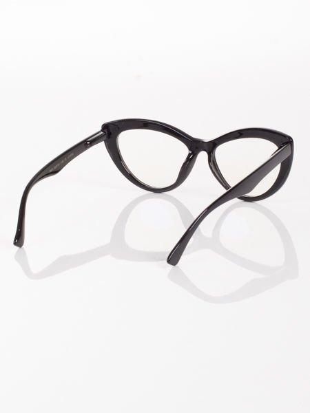 Modne okulary zerówki typu KOCIE OCZY w stylu Marlin Monroe- soczewki ANTYREFLEKS+system FLEX na zausznikach                                  zdj.                                  4