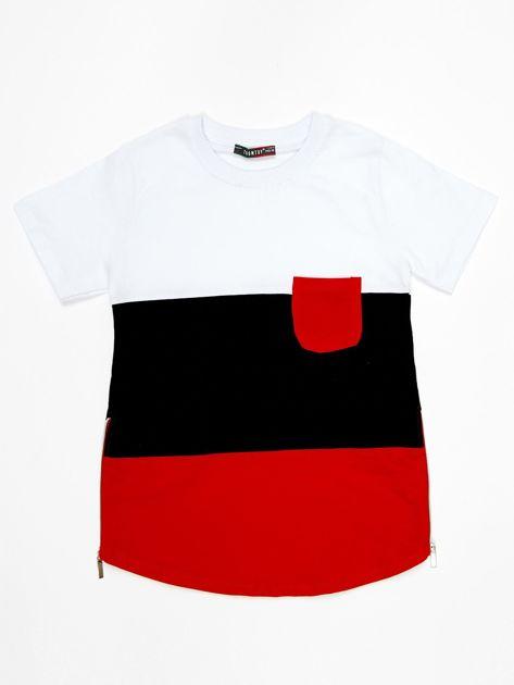 Modułowy t-shirt dziecięcy z suwakami                              zdj.                              5