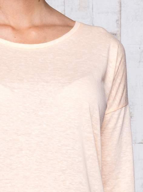 Morelowa bluzka z surowym wykończeniem                                  zdj.                                  6