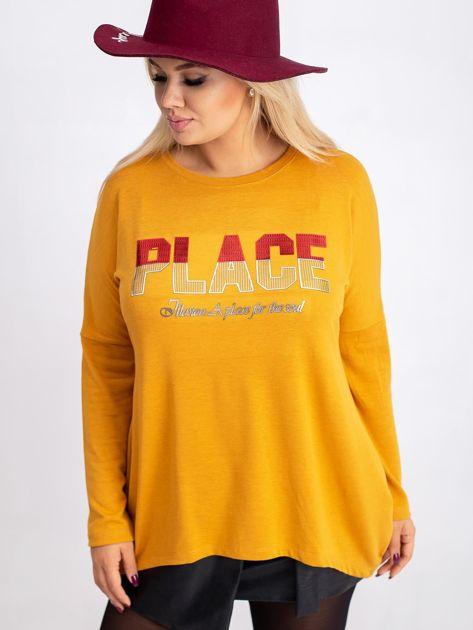 Musztardowa bluzka plus size Gracie                              zdj.                              1