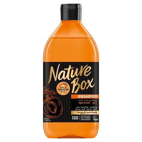 """Nature Box Apricot Oil Szampon do włosów nadający połysk  385ml"""""""