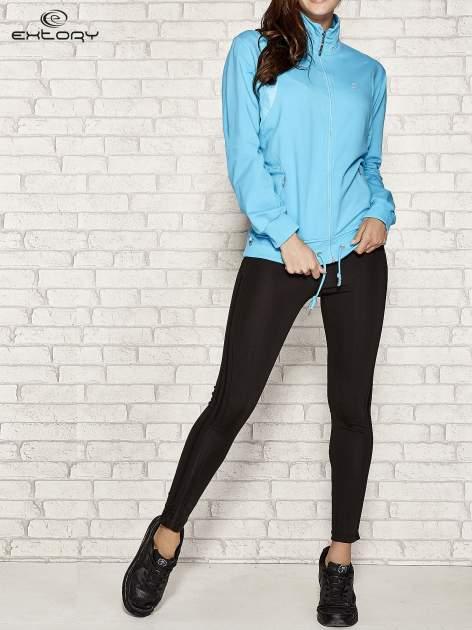 Niebieska bluza sportowa fitness ze wstawkami                                  zdj.                                  2
