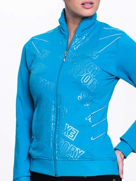 Niebieska bluza sportowa z logo EXTORY                                  zdj.                                  5