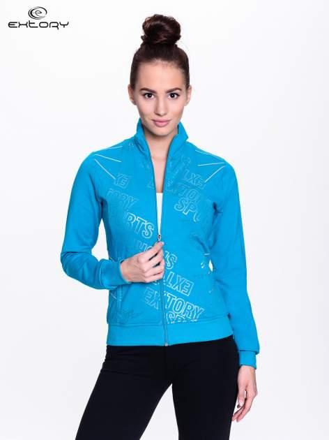 Niebieska bluza sportowa z logo EXTORY                                  zdj.                                  1