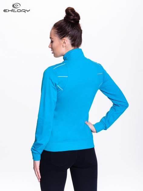 Niebieska bluza sportowa z logo EXTORY                                  zdj.                                  4
