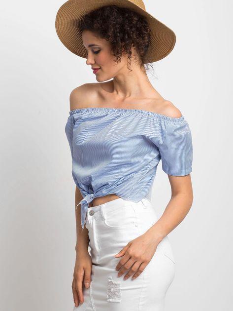 Niebieska bluzka Ladylike                              zdj.                              3