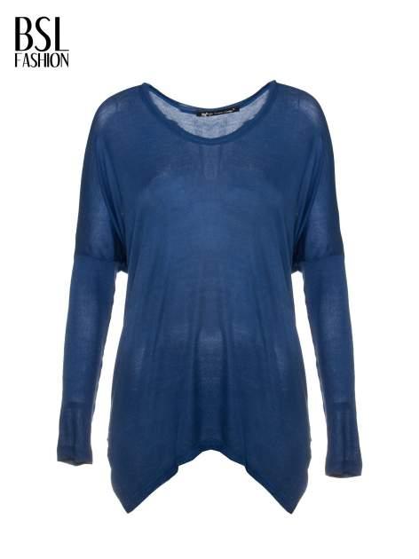 Niebieska bluzka z asymetrycznym cięciem na dole                                  zdj.                                  5