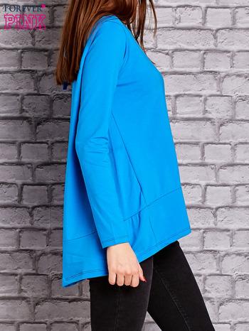 Niebieska bluzka z wiązaniem na plecach                                  zdj.                                  3