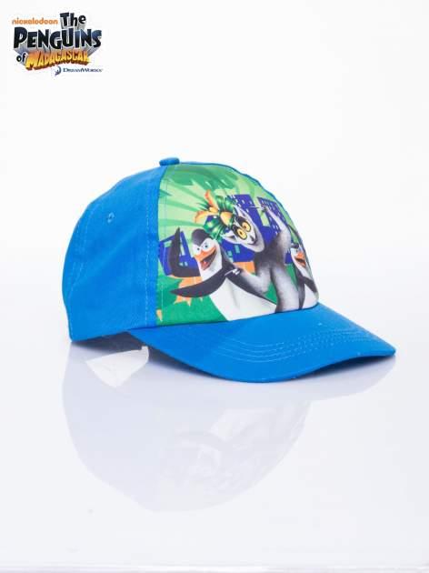 Niebieska chłopięca czapka z daszkiem PINGWINY Z MADAGASKARU                              zdj.                              2