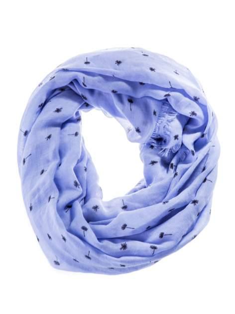 Niebieska chusta szal w babie lato                                  zdj.                                  2