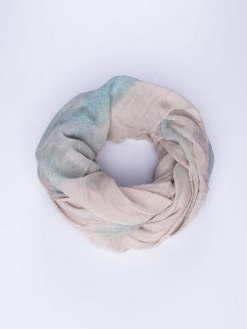 Niebieska chusta z efektem ombre                                  zdj.                                  1