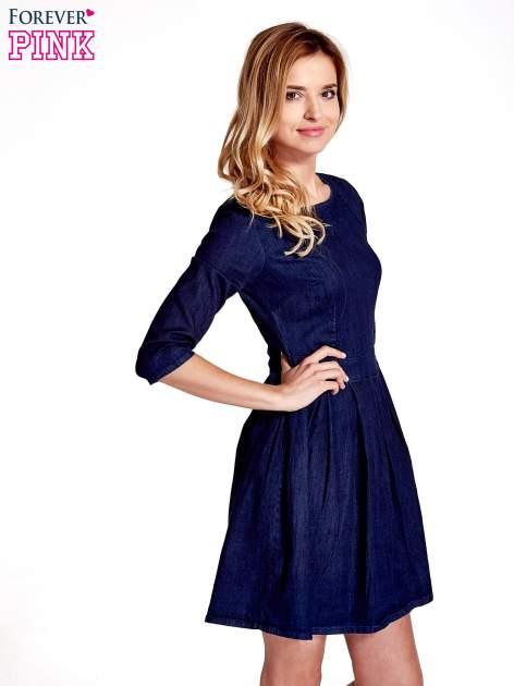 Niebieska denimowa sukienka                                  zdj.                                  3