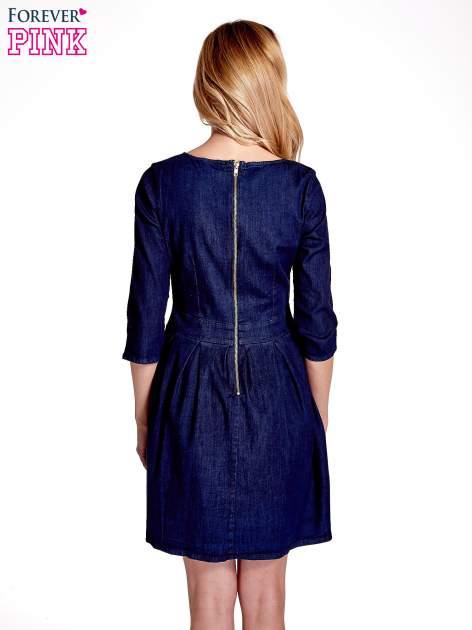 Niebieska denimowa sukienka                                  zdj.                                  2