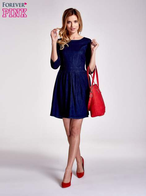 Niebieska denimowa sukienka                                  zdj.                                  8