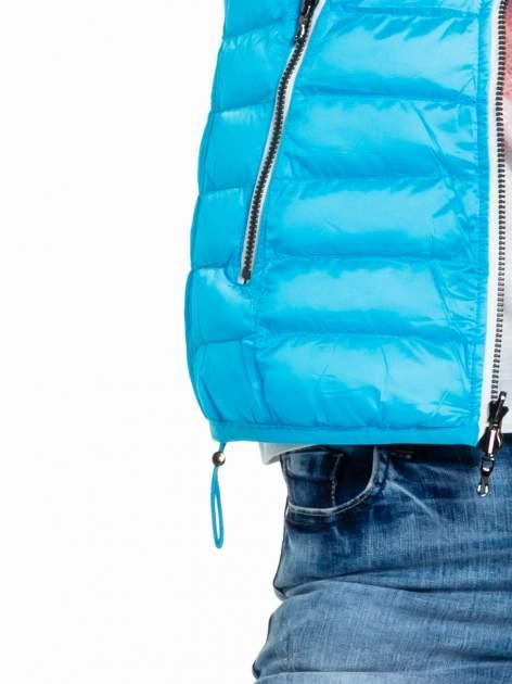 Niebieska dwustronna lekka kurtka puchowa                                  zdj.                                  8