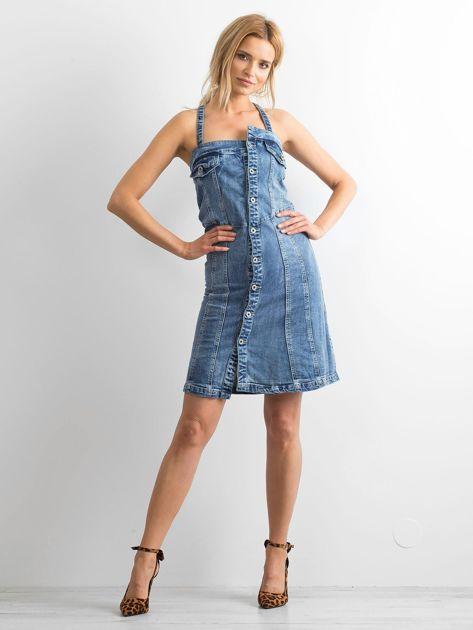 Niebieska jeansowa sukienka Magnificent                              zdj.                              4