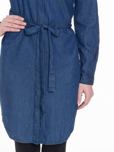 Niebieska jeansowa sukienka typu szmizjerka                                  zdj.                                  6