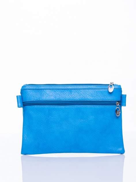 Niebieska kopertówka z dżetami motyw sowy                                  zdj.                                  4