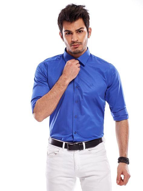 Niebieska koszula męska                               zdj.                              8