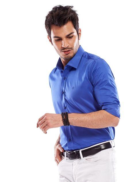 Niebieska koszula męska                               zdj.                              9