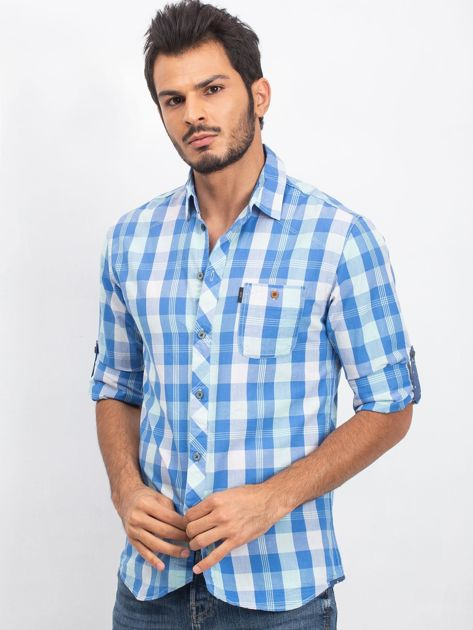 Niebieska koszula męska Jimmy                              zdj.                              3