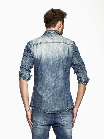 Niebieska koszula męska acid wash                                  zdj.                                  2