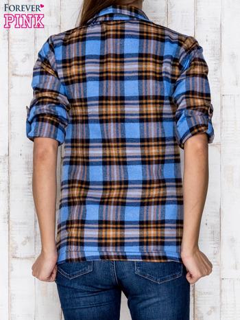 Niebieska koszula w kratę                               zdj.                              4