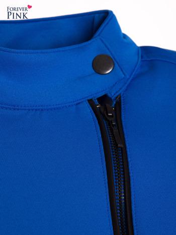 Niebieska kurtka biker ze skośnym suwakiem                                  zdj.                                  2