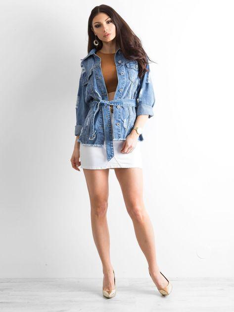 Niebieska kurtka jeansowa Mysterious                              zdj.                              4