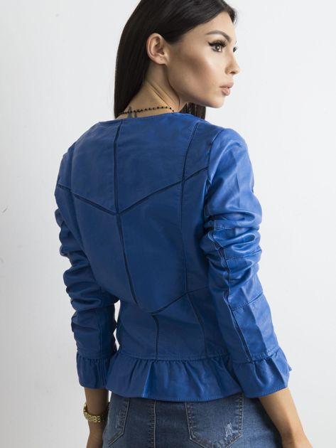 Niebieska kurtka z falbanami                              zdj.                              2