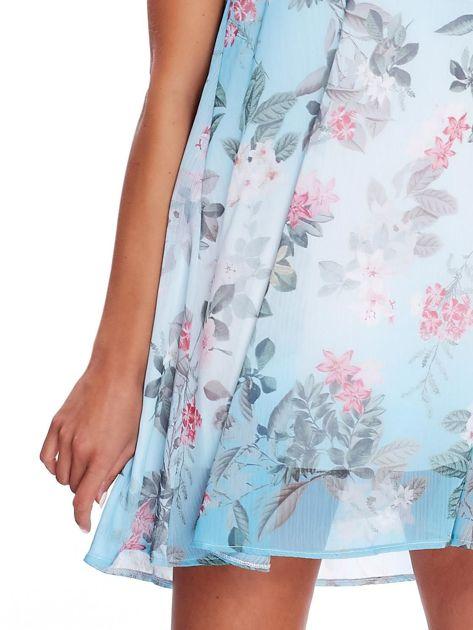 Niebieska kwiatowa sukienka                               zdj.                              5