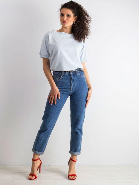 Niebieska melanżowa bluzka Lemontree                              zdj.                              4