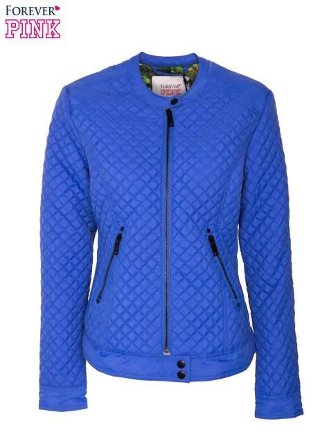 Niebieska pikowana kurtka motocyklowa                                  zdj.                                  1