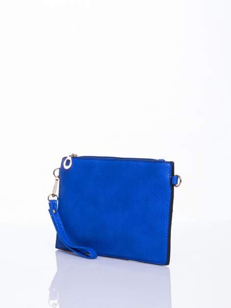 Niebieska prosta przewieszana torebka z uchwytem                                  zdj.                                  3