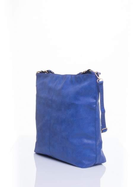Niebieska siateczkowa torba hobo                                  zdj.                                  3