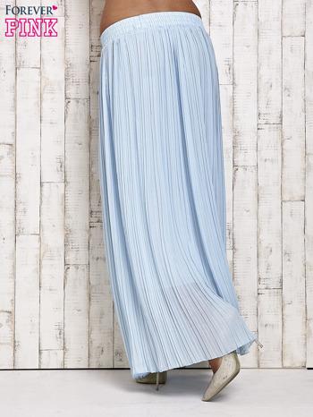 Niebieska spódnica maxi w plisy                                  zdj.                                  2