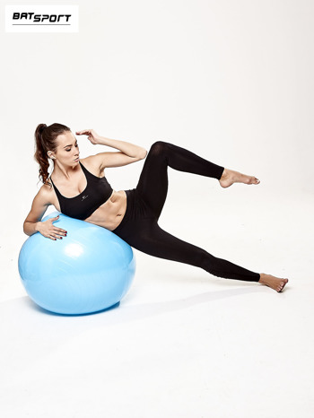 Niebieska średnia piłka do fitnessu                                  zdj.                                  8