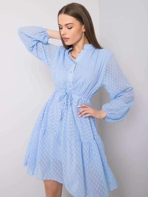 Niebieska sukienka Lucille OCH BELLA