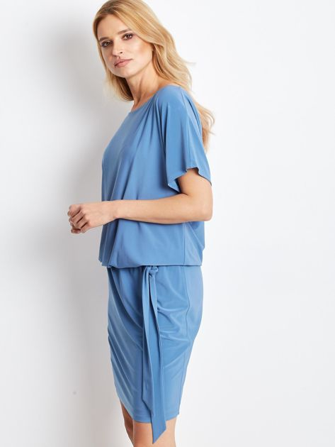 Niebieska sukienka Peak                              zdj.                              3