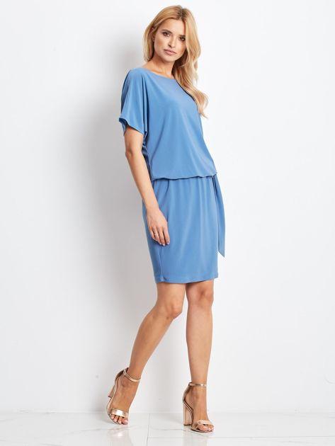 Niebieska sukienka Peak                              zdj.                              4