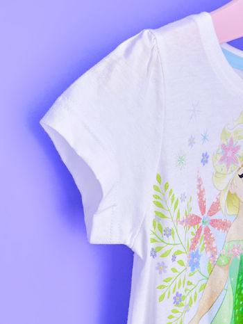 Niebieska sukienka dla dziewczynki z brokatowym paskiem FROZEN                                  zdj.                                  6