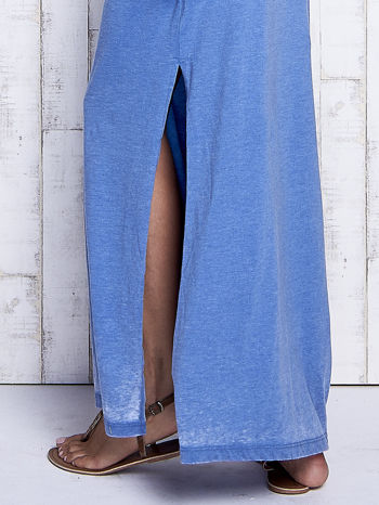 Niebieska sukienka maxi acid wash                                  zdj.                                  6