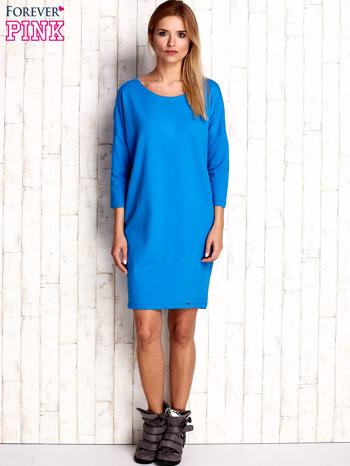 Niebieska sukienka oversize                                  zdj.                                  4