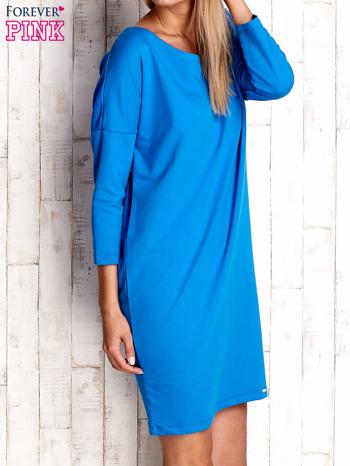Niebieska sukienka oversize                                  zdj.                                  3