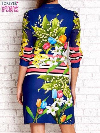 Niebieska sukienka w kwiaty                                  zdj.                                  2
