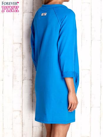 Niebieska sukienka z troczkami                                  zdj.                                  4