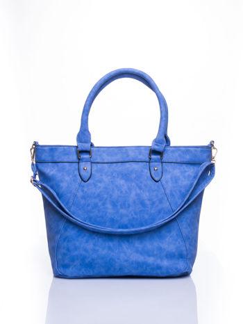 Niebieska torba city bag na ramię