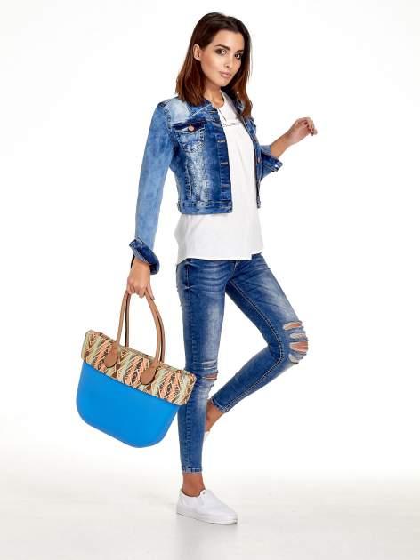 Niebieska torba gumowa z motywem azteckim                                  zdj.                                  11