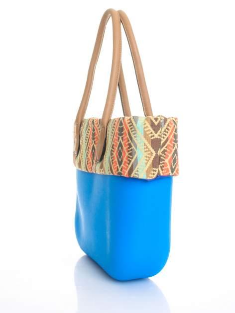 Niebieska torba gumowa z motywem azteckim                                  zdj.                                  3