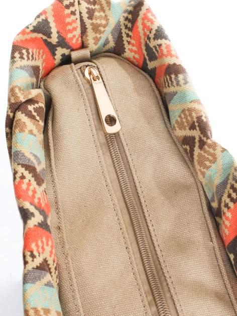 Niebieska torba gumowa z motywem azteckim                                  zdj.                                  4